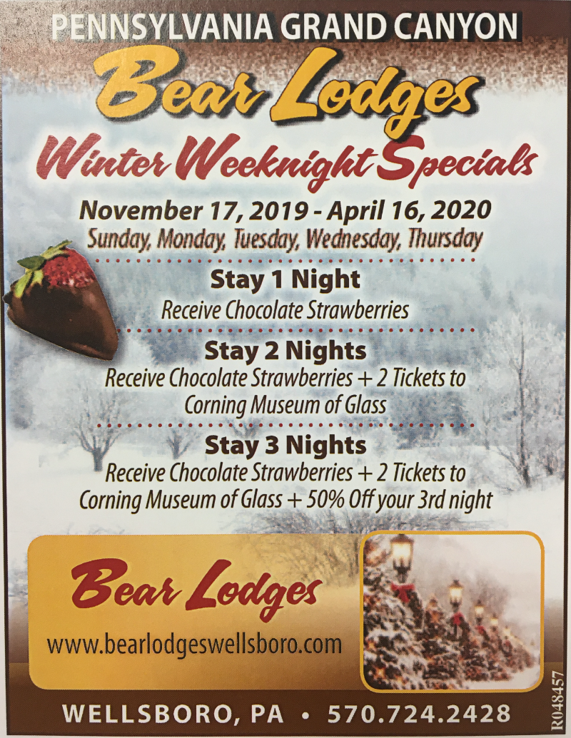 Bear Lodges Winter Special