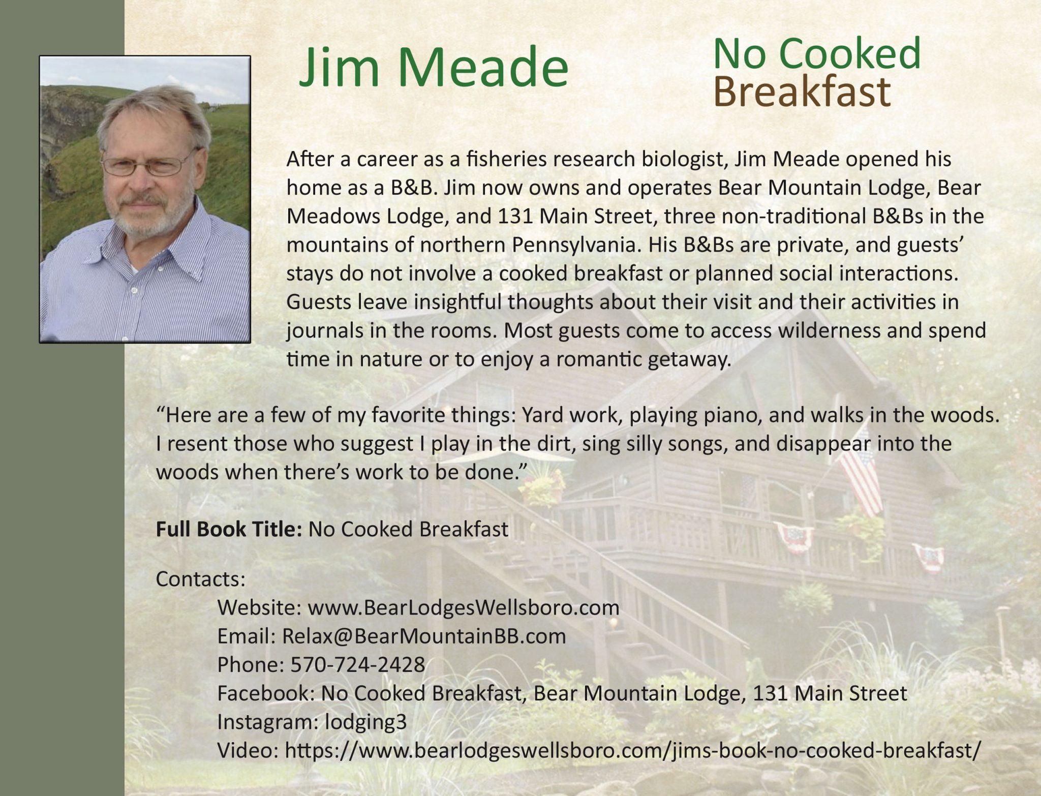 Jim Meade: No Cooked Breakfast